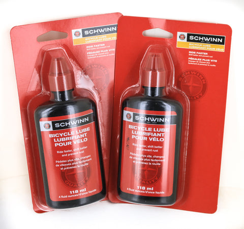 2 QTY Finish Line / Schwinn 4 Ounce Bottles Bicycle Chain Lube Lubricant Oil