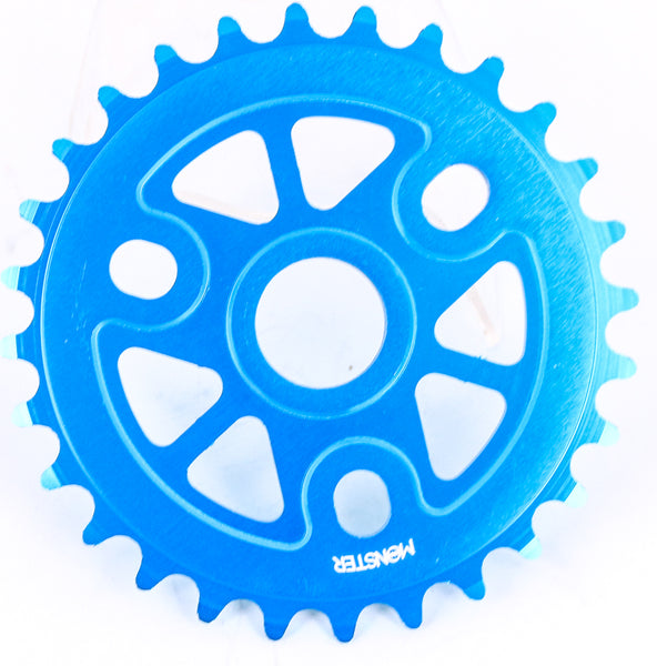 "Redline Monster 28T 1/8"" BMX Bike Chainring 6061 Alloy Blue 19 22 24mm NEW"