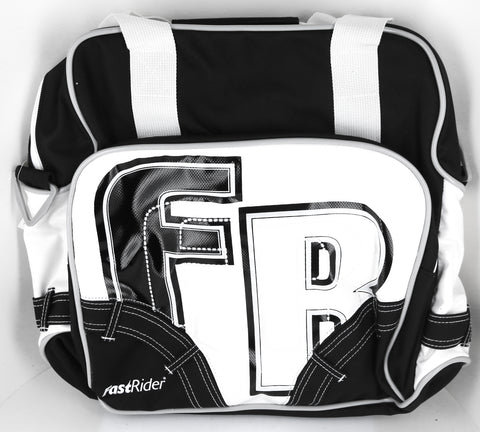 FastRider Young City Pannier Bike Bag 12.5L Water Resistant White / Black NEW