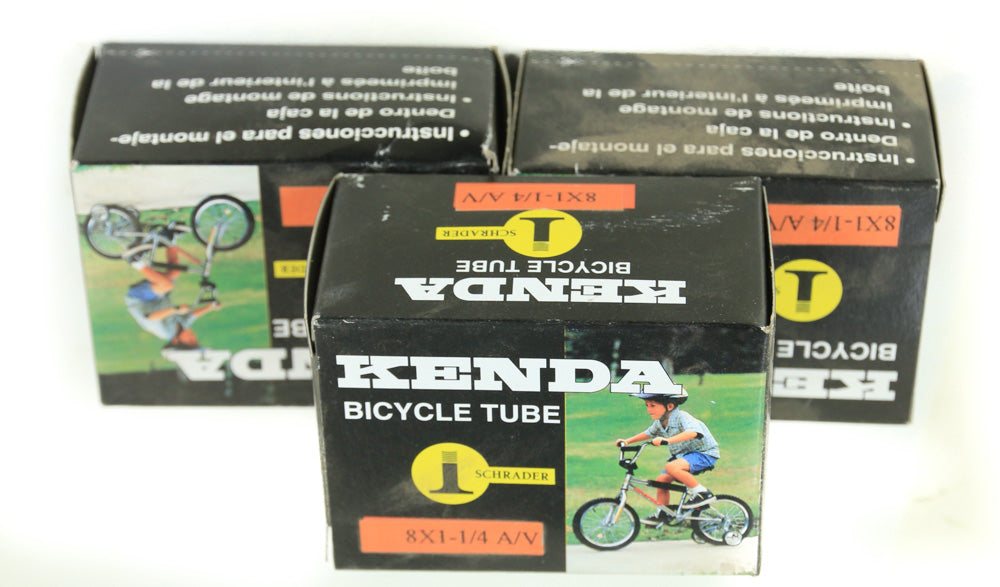 "3 QTY Kenda Bicycle Inner Tube 8"" x 1-1/4"" American Schrader Valve NEW"