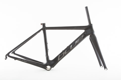Blue Andaz Carbon Fiber Frame + Fork 700c Road Racing Bike XS NEW
