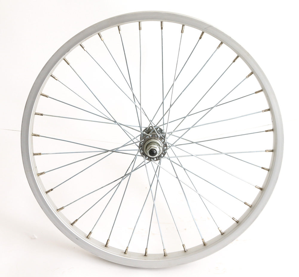 "20"" Kids Youth BMX Bike Front Wheel Aluminum Rim 3/8"" Axle Silver NEW"
