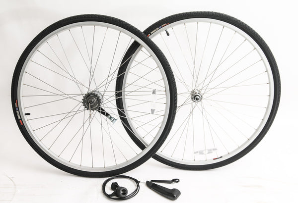 700c Sturmey Archer 3s Coaster Brake Cruiser Bike Wheelset Shifter Tires NEW