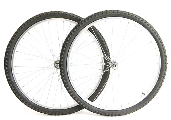 "26"" Xrims Mountain / Hybrid Bike Wheelset + Tires Freewheel Aluminum Rim NEW"
