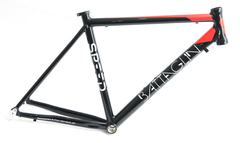 Battaglin Speed 700c LG 54cm Aluminum Road Bike Frame Black / Red NEW