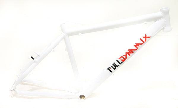 "Full Dynamix 26"" Aluminum 19"" Hardtail Mountain Bike Frame Disc White NEW"