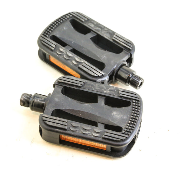 "VP Security Pedals Resin 9/16"" Spindle Black Hybrid / Commuter Bike NEW"