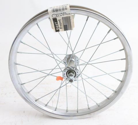"16"" Kids Youth Boys Girls Steel Front Bike Wheel Nutted Axle NEW"