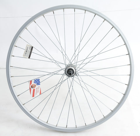 "24"" Rear Hybrid Road Bike Wheel Freewheel QR Aluminum NEW"