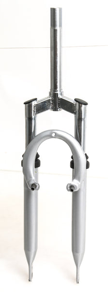 "24"" Mountain Bike Suspension Fork 1"" Threaded Rim V-Brake Silver NEW"