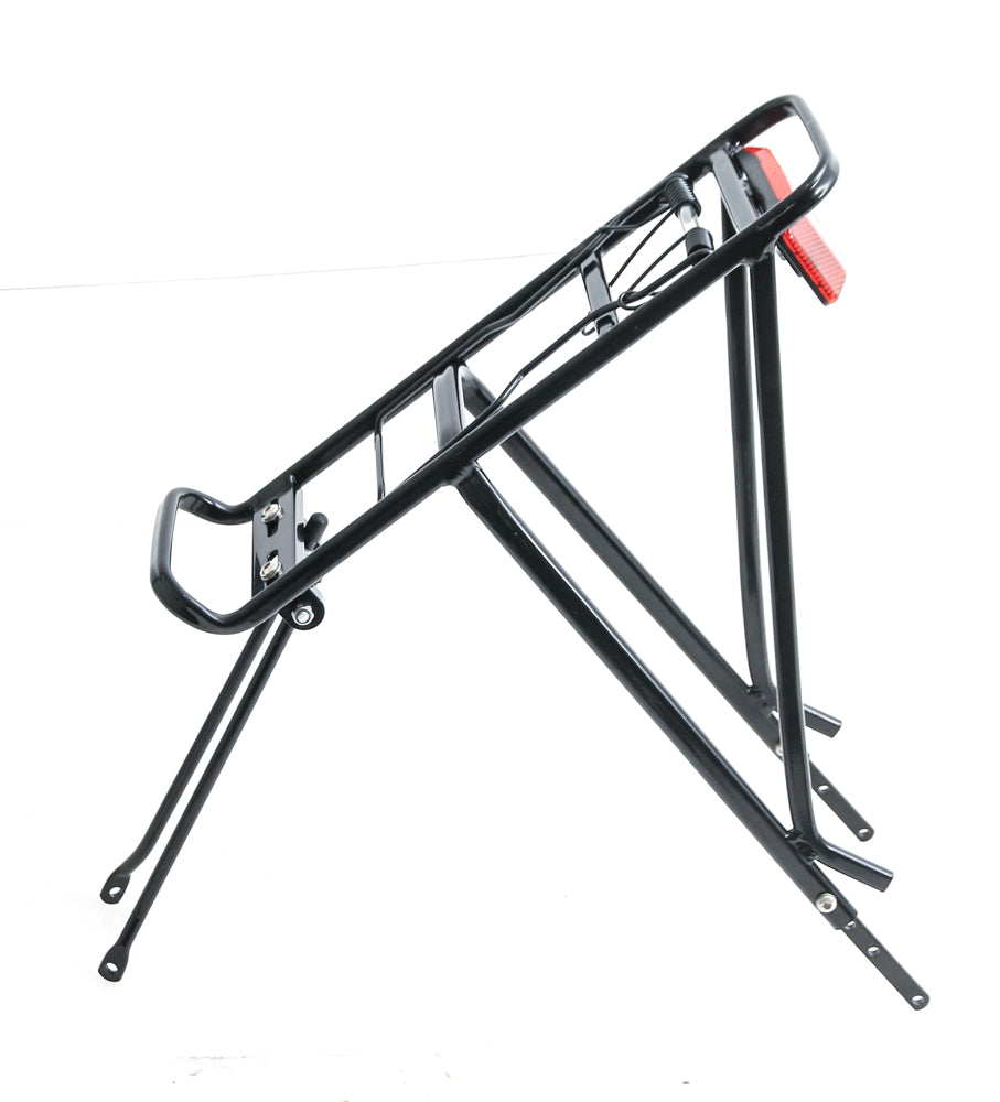 Aluminum Black Rear Cargo Bicycle Rack Pannier Holder NEW