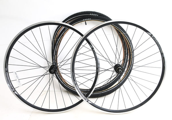 Sundeal 700c Road Bike Wheelset + Tires QR Freewheel Compatible NEW