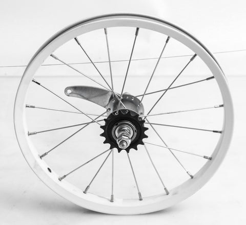 "16"" Kids Youth BMX Bike Coaster Brake Rear Wheel Steel Whitel NEW"