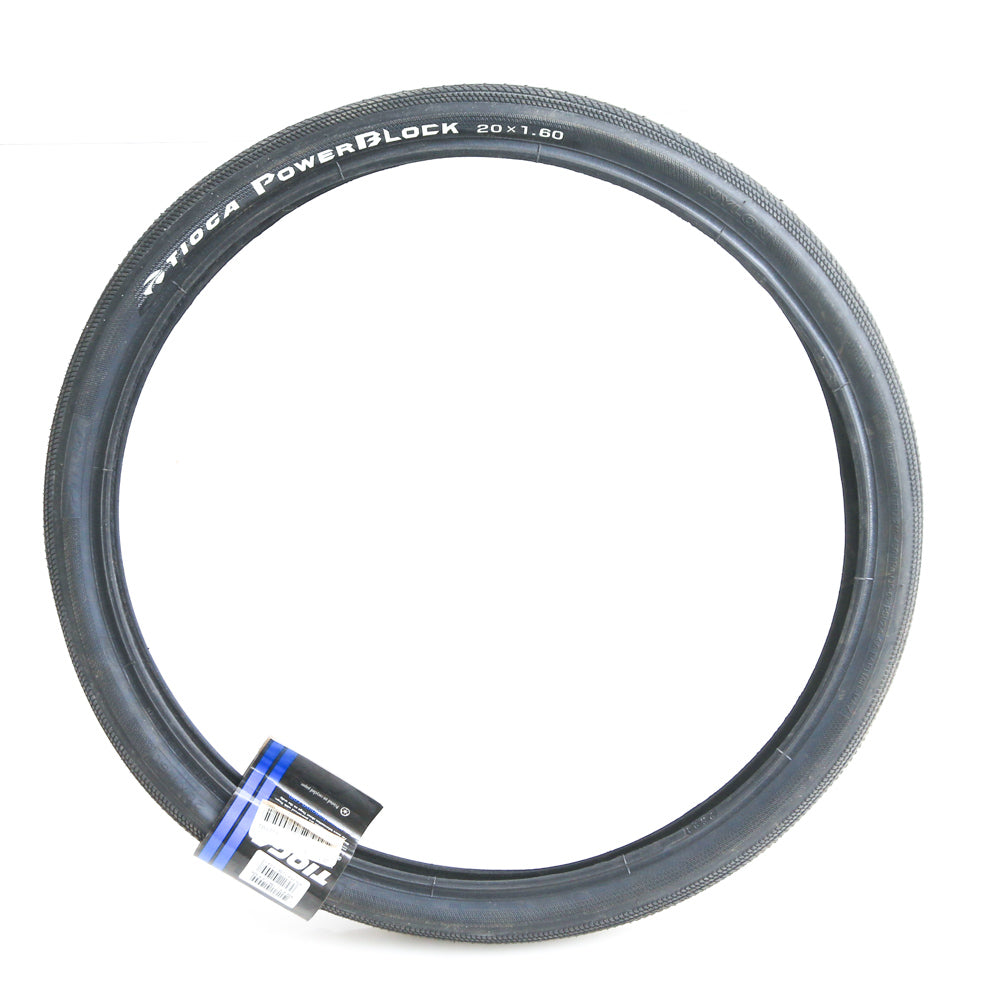"1QTY Tioga Powerblock 20"" x 1.60"" 406mm BMX Recumbent Bike Tire Semi-Slick NEW"
