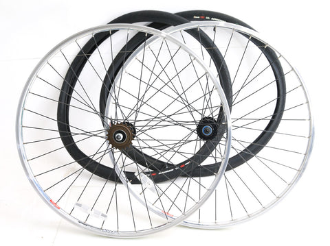 Alex Rims DC25 700c Single Speed Hybrid Commuter City Bike Wheelset + Tires NEW