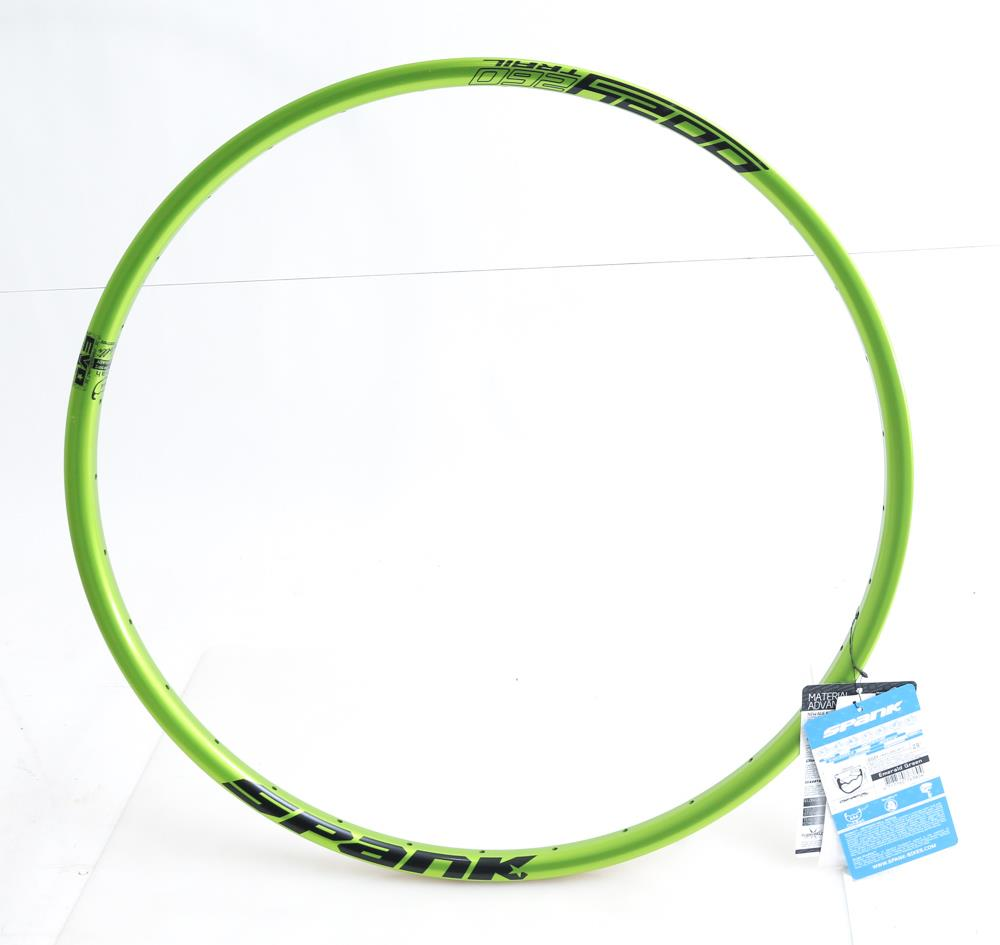 Spank Oozy Evo 26AL 32 Hole 29er Mountain Bike Wheel Rim Green 485g NEW