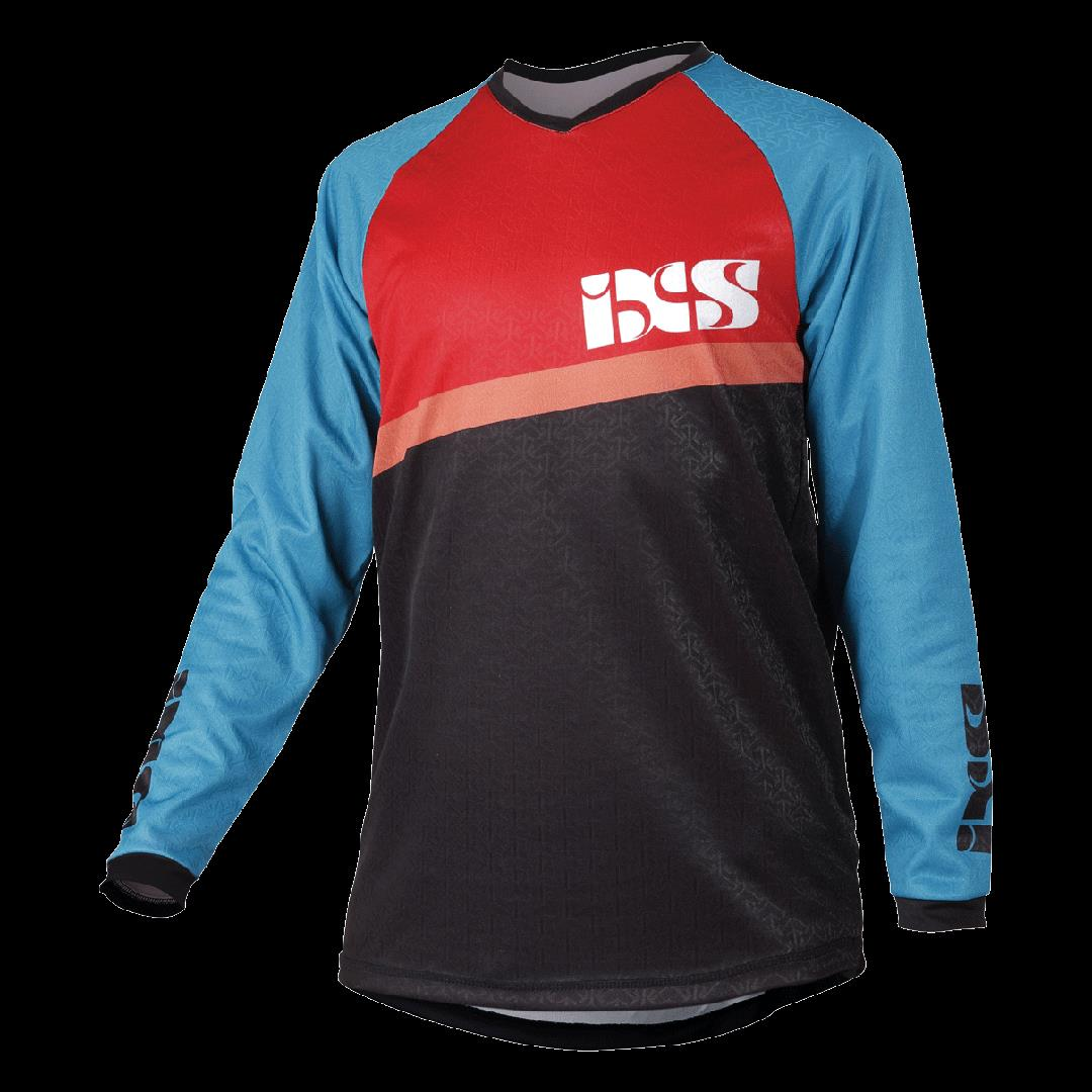 IXS PIVOT 6.1 Bike Jersey YOUTH JERSEY Large PETROL: RED / BLUE KL
