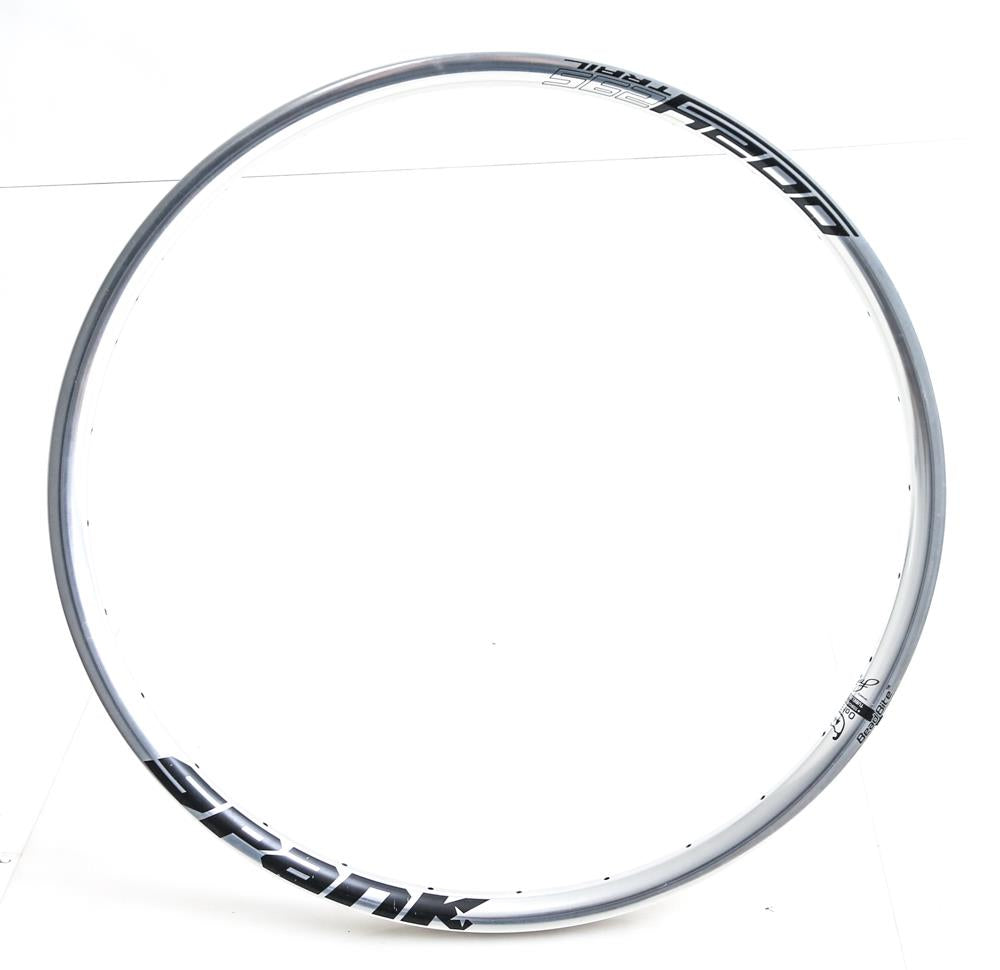"Spank Oozy 295 Trail 26"" Mountain Bike Wheel Rim Silver  32h Hole Disc New Blem"