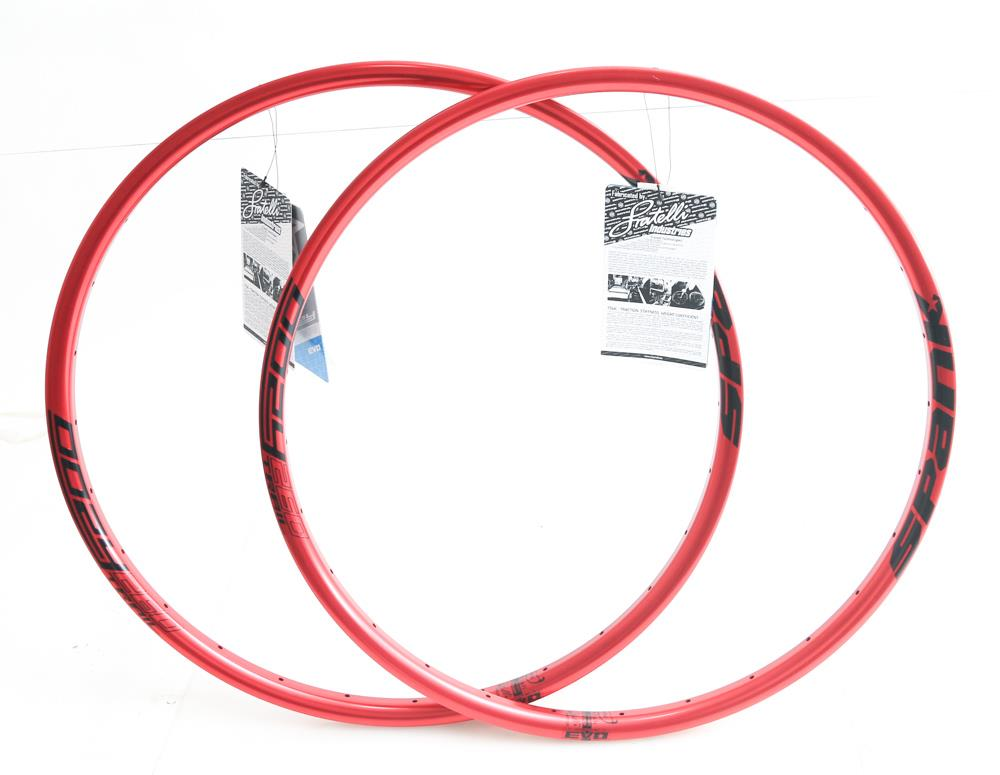 "2qty Spank Oozy Trail 260 Evo 28h Hole 26"" Mountain Bike Wheel Rim Red NEW"