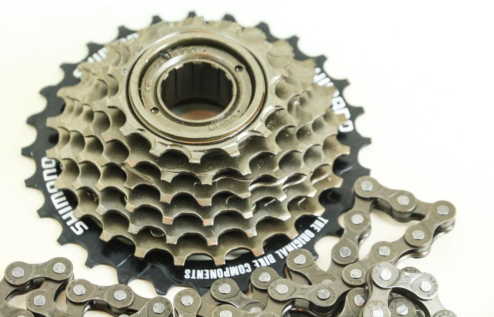 Shimano Mf-TZ21 14-27 7 Speed Freewheel plus 110 Link KMC Z Narrow Chain NTO
