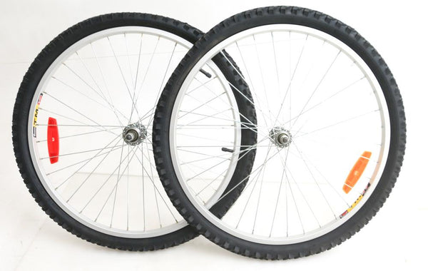 "26"" TM19  Bike Wheelset, Freewheel Compatible with Duro 26 x 1.95 tires New"
