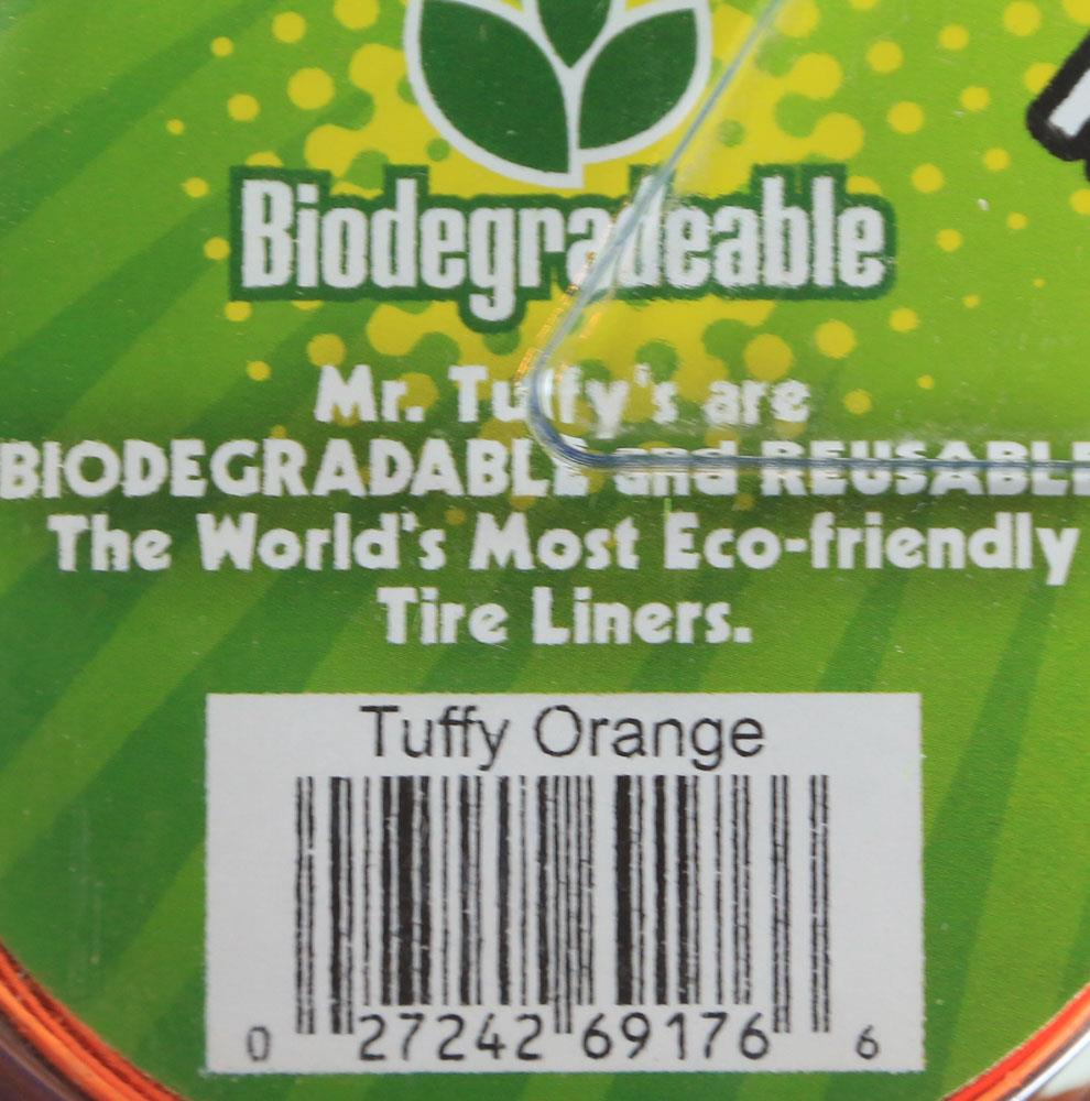 Mr. Tuffy Orange 700c x 20-25 Bicycle Tire Liners Flat Resistant Protection NEW