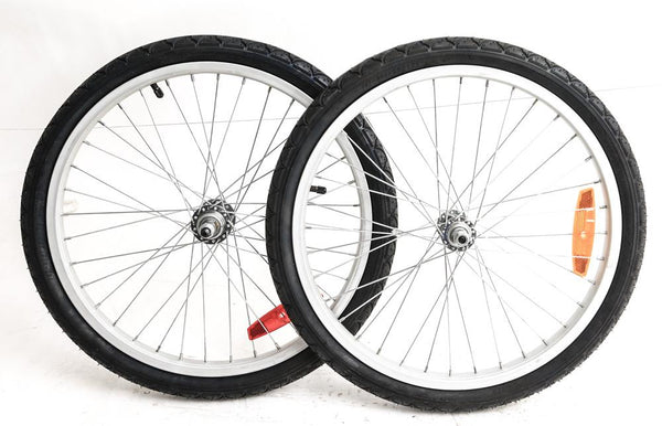 "20"" Kids Youth MTB Bike Multi Speed Freewheel Wheelset 3/8"" Axles with Tires NEW"