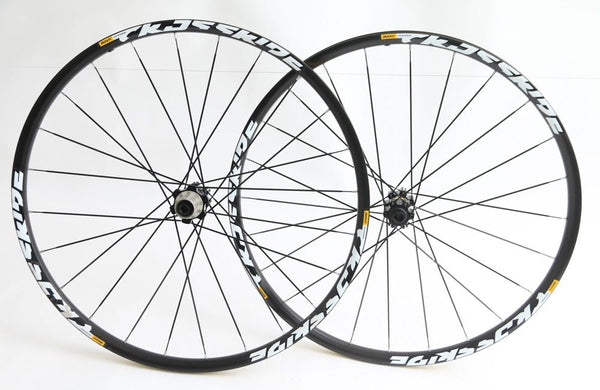 "Mavic Crossride 27.5"" 650B MTB Bike Wheelset Shimano 8-11s 12/15mm Thru NEW BLEM"