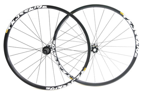 "MAVIC Crossride 27.5"" 650b MTB Bike Wheelset Shimano 8-11s Disc 15mm/QR NEW"