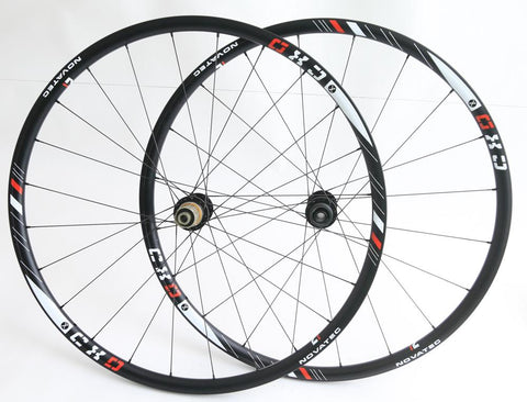 Novatec CXD Cyclocoss 700c Tubular CX Bike Wheelset 15/12mm Thru 8-11s NEW