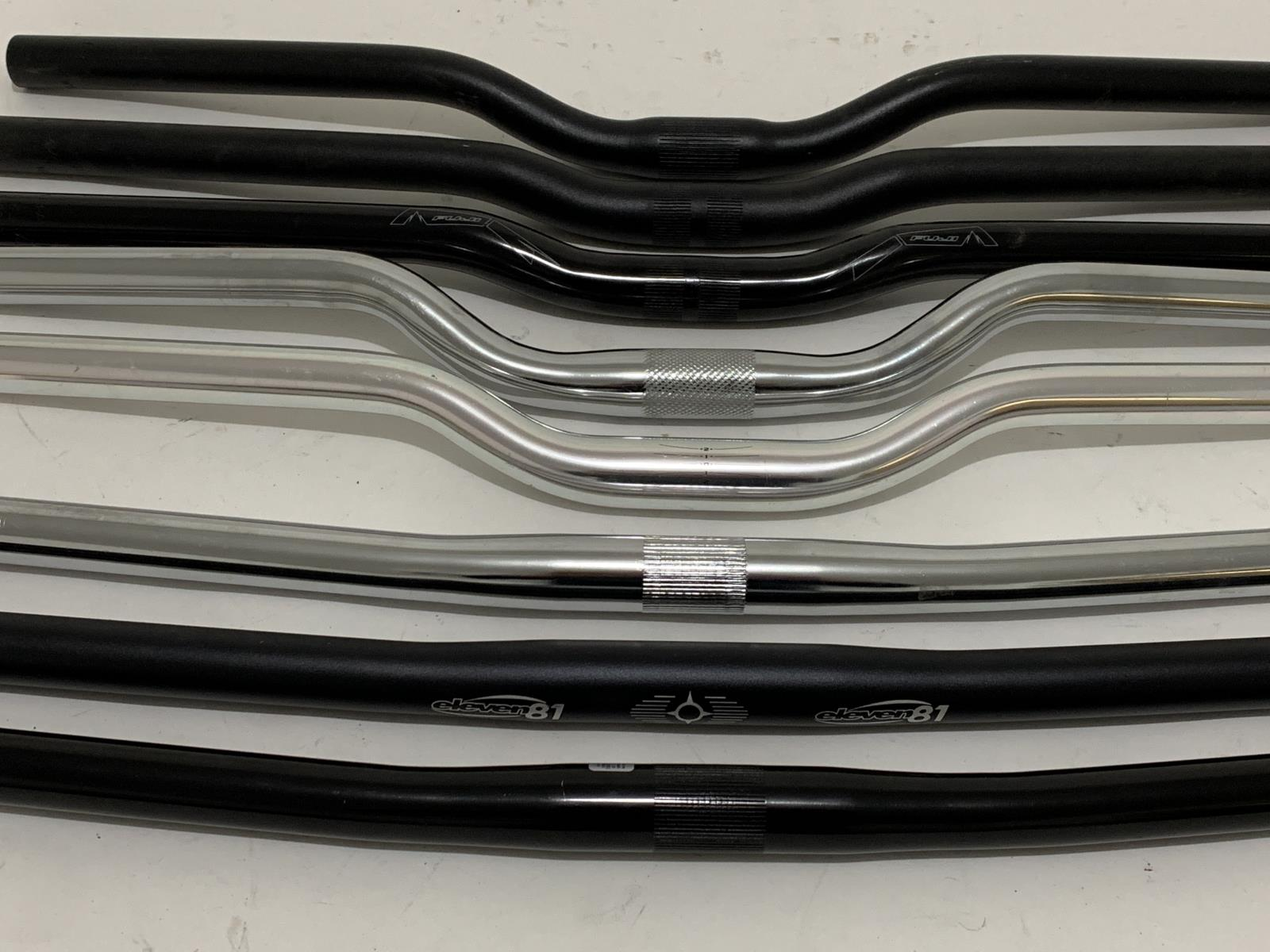 Lot of 8 Flat and Riser Steel Aluminum Bike Handlebars 25.4mm MTB New Old Stock