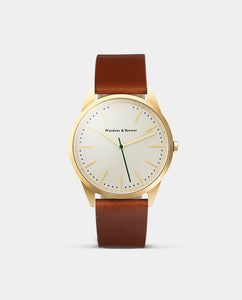 The Original 40mm Gold - Brown Leather