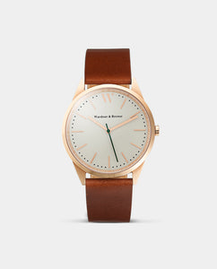 The Original 40mm Rose Gold - Brown Leather
