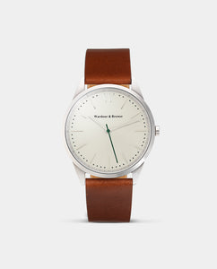 The Original 40mm Silver - Brown Leather