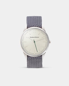 The Original 40mm Silver – Cloudy Grey Perlon Strap