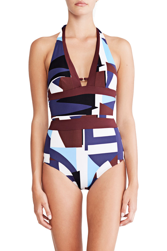 Aria - Tie Back Halter Maillot