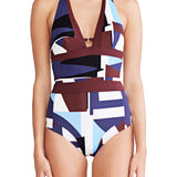 Aria - Tie Back Halter Maillot - Mei L'ange