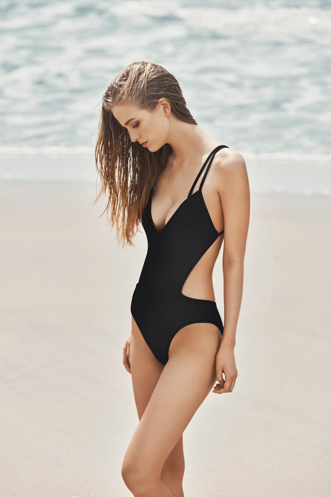 NORA - V-Neck Double Strap Maillot - Mei L'ange