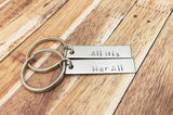 All His Her All Keychains, Couples Keychains, christmas gift