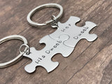 His Dweeb Her Dweeb Keychains Puzzle Keychains Couples Keychains , Anniversary Gift