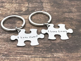 I love weird I love crazy couples keychains , Anniversary Gift
