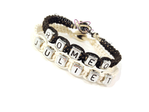 Romeo Juliet Bracelets, Couples bracelets, Boyfriend Girlfriend bracelets, Couples Gift