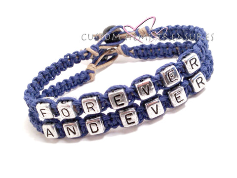 Forever and Ever Bracelets, Couples Bracelets, Boyfriend Girlfriend Bracelets