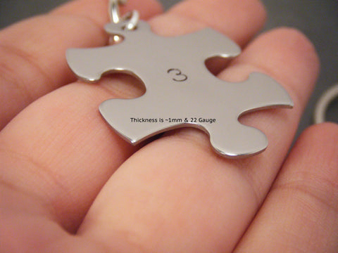 Infinite Love Couples Keychains, Puzzle Piece Keychains