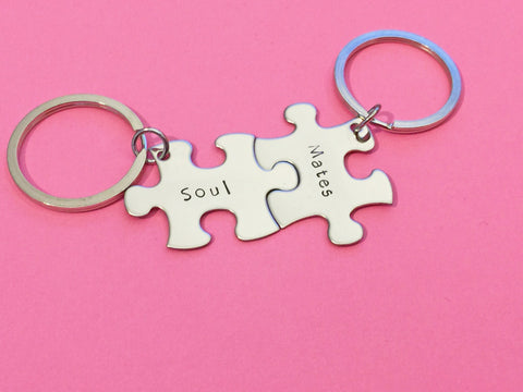 Soul Mates Keychains for Couples, Couples Gift