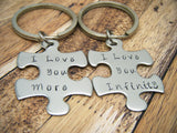 I love you more, I love you infinity, Couples Keychains, Couples Gift , Anniversary Gift