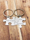 His Nerd Her Weirdo keychains, Geek Gift, couples keychains, couples gift
