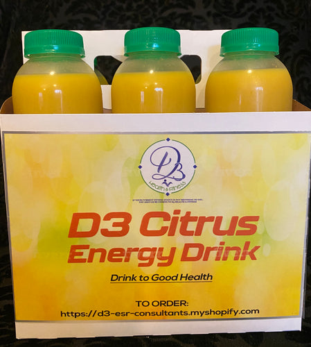 D3 Citrus Energy Drinks 6 Pack