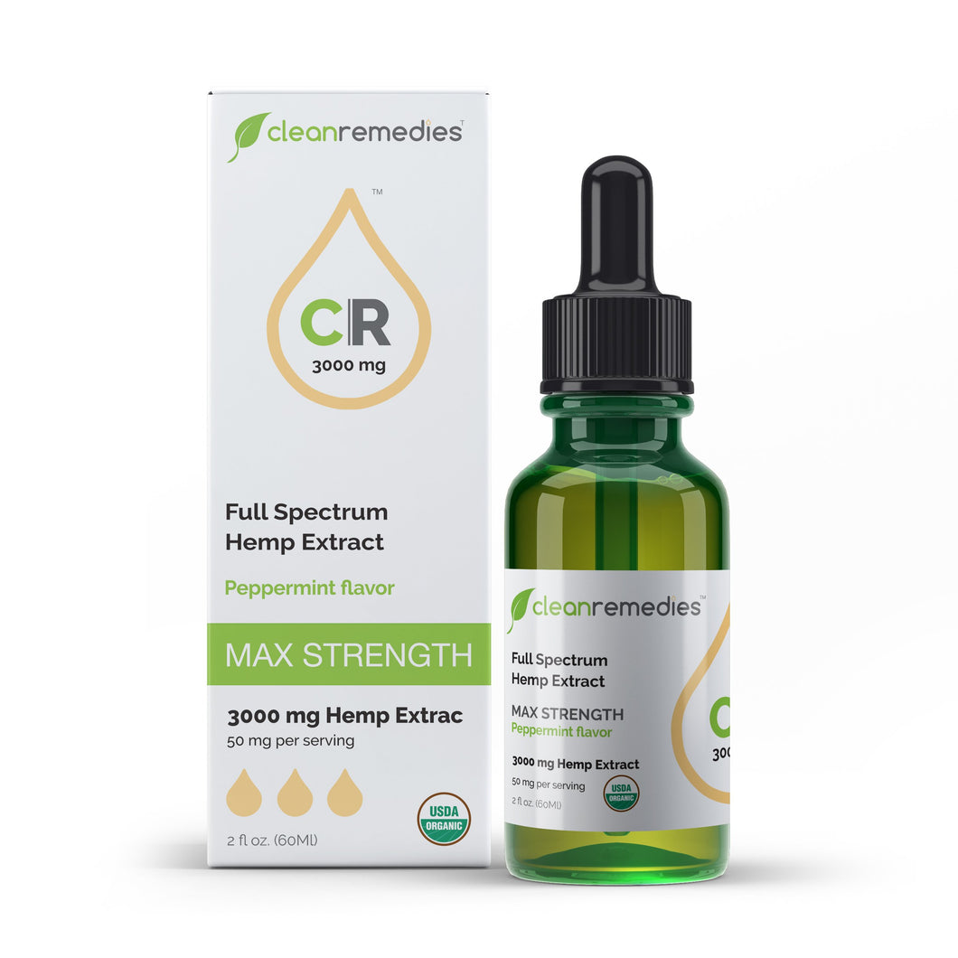 Full Spectrum Hemp Extract - CBD Oil - Peppermint