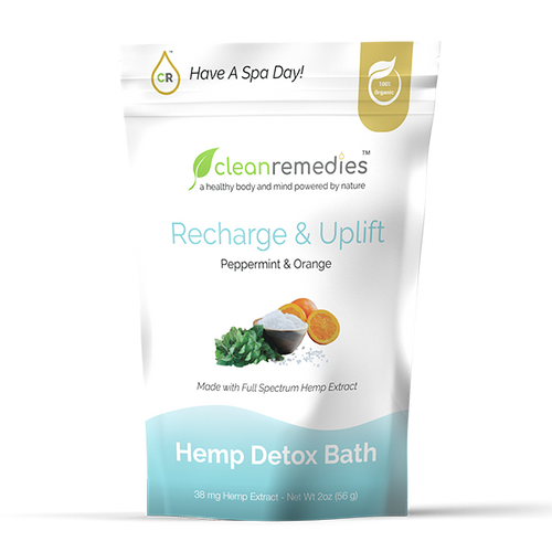 Detox Bath Salts - Peppermint & Orange 38mg CBD (2 oz)